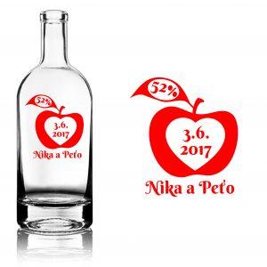 svadobná etiketa Apple jablkovica