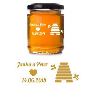 svadobná etiketa Honey - Med